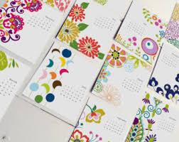 Desk Calendar Design Ideas 2018 Desk Calendar Etsy