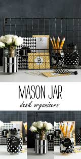 Desk Storage Organizers Jar Desk Organizers Diy Using Wrapping Paper And Baker S