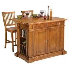 kitchen island with stools home styles cottage oak finish large kitchen island hayneedle