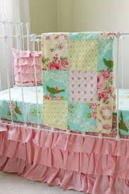 Pink And Gold Nursery Bedding Turquoise Mockingbird Baby Bedding Lottie Da Baby Baby Bedding