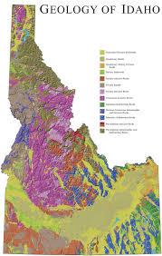 Map Of Montana And Idaho by Digital Geology Of Idaho