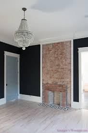 black walls in bedroom master bedroom black walls shaw hardwood whitewashed wood floors