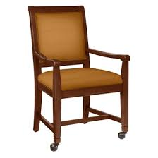 Dining Chairs With Casters Fabric Dining Chair With Wood Frame And Front Casters 76355 And