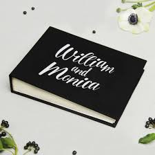 black wedding guest book wedding guest book album black with white lettering empty pages