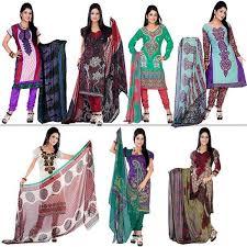 buy variation set of 7 colourful designer dress material online at