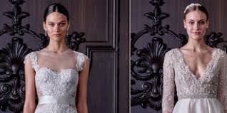 monique lhuillier u0027s new wedding dress collection is both naughty