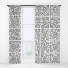 snowflake window curtains society6