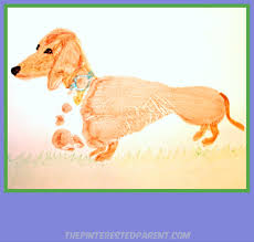 footprint dachshund craft kids handprint u0026 footprint crafts