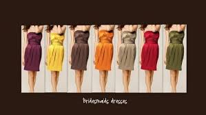 mis matched bridesmaids wedding fall colors wedding