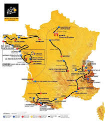 Tour De France Route Map by Peter Selin Peterselin Twitter
