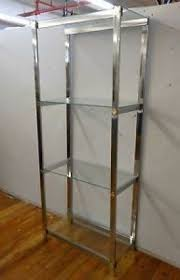 Bookcases With Glass Shelves Chrome Bookcases Foter