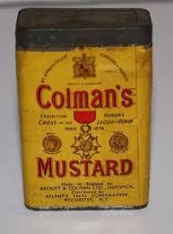 coleman s mustard vintage colman s mustard bull s tin paper label advertising