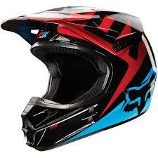 red motocross helmet fox mx gear new v1 race blue red motocross mtb bmx dirt bike