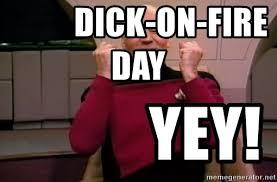 Jean Luc Picard Meme Generator - dick on fire day yey jean luc picard happy meme generator