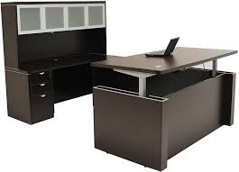 Desk U Shaped Height U Shaped Executive Office Desk W Hutch In Mocha