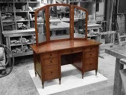 Jewelry Armoire Vanity Custom Made Shaker Makeup Vanity In Cherry By The Chicago Bench Co