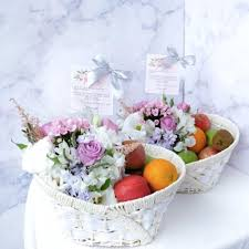 fruit and flower basket fruit basket with flowers giftr malaysia s leading online gift shop