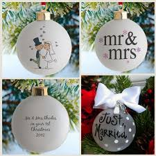 Personalized Wedding Christmas Ornaments Personalised Wedding Christmas Baubles So Cute Christmas And