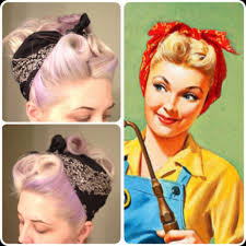 50 u0027s bandana hairstyle for long thin hair tutorial google search