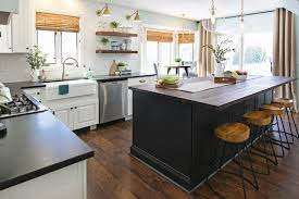 black island and white cabinets kitchen contemporary farmhouse with an eclectic twist