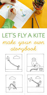 make your own kite storybook coloring page story books kites