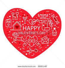 Designs Of Making Greeting Cards For Valentines Happy Valentines Day Greeting Card Design Stock Vector 366811487