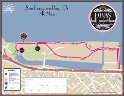 san francisco map my run divas half marathon 5k san francisco bay ca