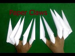Origami Paper Claws - how to make paper claws freddy krueger claws easy way origami