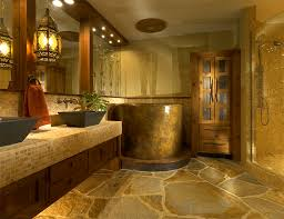 Recessed Lighting For Bathrooms by Bathroom Stone Flooring With Modern Wall Sconces Also Recessed