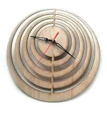 Unique Clocks Wooden Pendulum Wall Clock Laser Cut Wall Clock Laser Cutting Wood