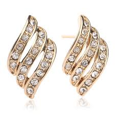 gold earrings design with weight new arrival top design light weight simple gold earring designs