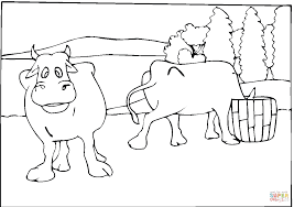 two cows coloring page free printable coloring pages