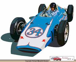 1962 indy car the next year mickey thompson would bring three cars with rear mounted stock block buick the prinl car number 35 failed to make the race