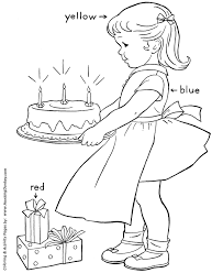 birthday cake coloring learning colors activity pages