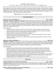 Sample Resume For Teaching Profession by Teacher Resume Free Assistant Teacher Resume Example Teacher