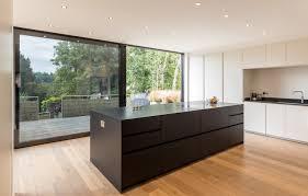 Kitchen Island Contemporary Large Sliding Door Black Aluminium Modern Black Kitchen Island
