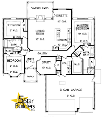 Car Floor Plan Floor Plan 5 Star Builders Mustang U0026 Okc