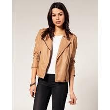 light brown leather jacket womens women s long tan biker leather jacket my style pinboard