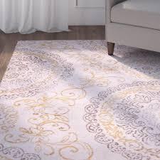 Rug Gold Charlton Home Arend Purple Gold Area Rug U0026 Reviews Wayfair Supply