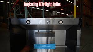 replacing vent a hood led light bulbs youtube