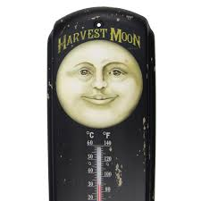 Patio Thermometer by Primitive Ad Harvest Moon Produce Indoor Outdoor Thermometer