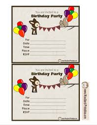 free printable woodland birthday party invitations