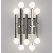 Lighting Wall Sconces Meurice Nickel Five Arm Sconce Modern Sconces Jonathan Adler