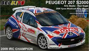 peugeot 207 rally aoshima belkits 84298 peugeot 207 s2000 2009 irc champion 1 24