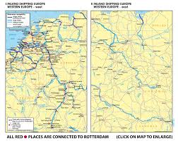 East Europe Map by Www Rotterdamtransport Com Rhine Inland Shipping Country Maps