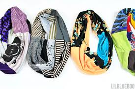 Upcycle Old Tshirts - diy upcycled infinity t shirt scarf