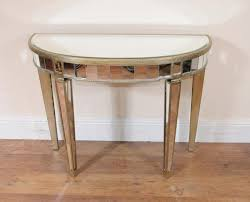 wood and mirrored console table art deco mirrored console table demi lune tables console table