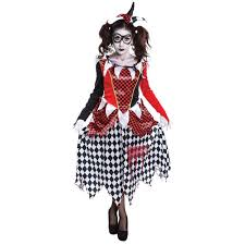 harlequin halloween costumes ladies black scary harlequin fancy dress costume ac698