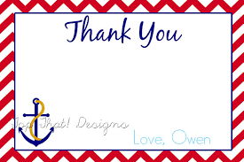 nautical thank you cards nautical thank you card printable