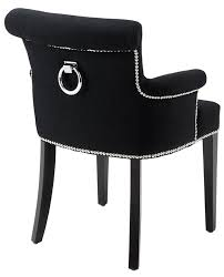 black cashmere dining chair with arms u0026 ring handle u2013 allissias